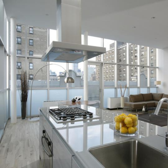 Loft 25 kitchen - 420 West 25th Street Condos for Sale