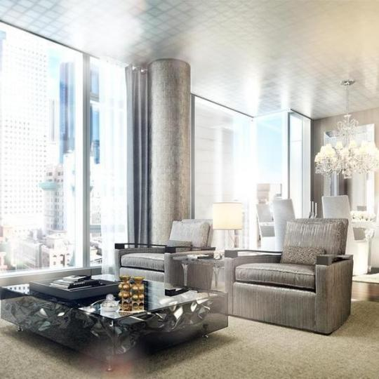 Living Room - The Baccarat Hotel and Residences - Midtown West