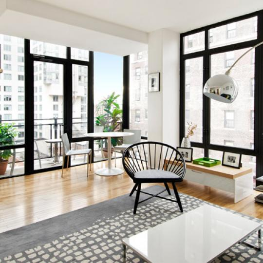 148 East 24th Street NYC Condos - livingroom at ONE48