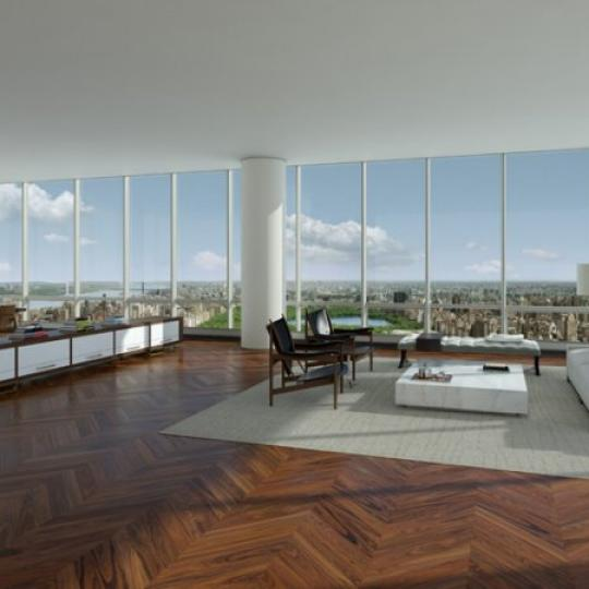 One57 - NYC Condos - Living Room - Luxury Apartments for Sale in NYC