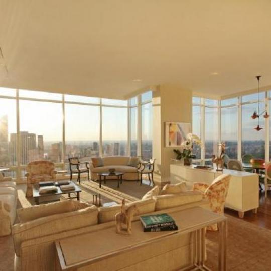 One Beacon Court Bloomberg Tower NYC condos for sale living dining room