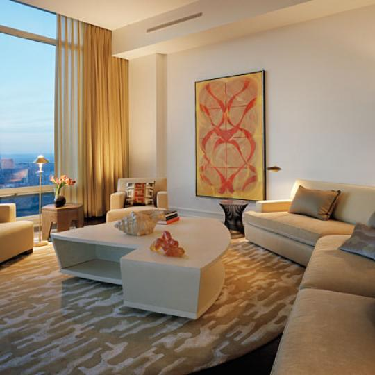 One Beacon Court Bloomberg Tower NYC condos for sale living room