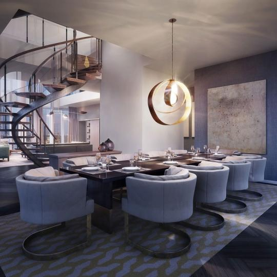 One Madison Park Manhattan Condos - Apartments for Sale in Nomad Dining Room