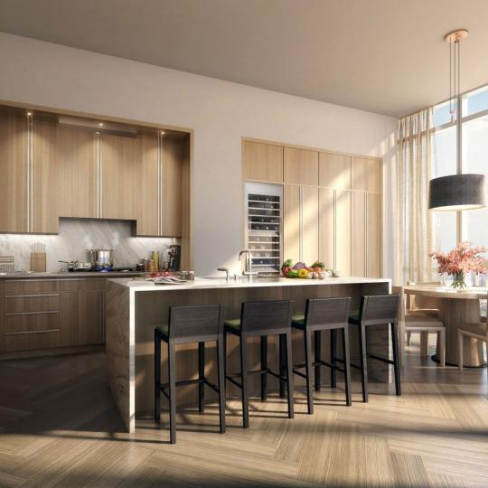One Madison Park Manhattan Condos - Apartments for Sale in Nomad Breakfast Bar