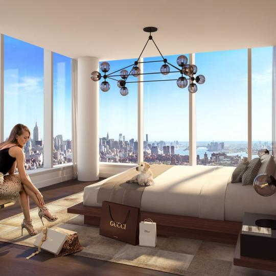 Condos for sale at One Manhattan Square in NYC - Bedroom
