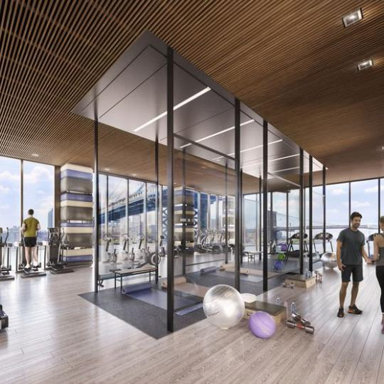 Fitness Center at One Manhattan Square in Two Bridge