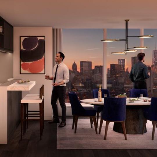 Open Kichen at 252 South Street in Manhattan - Condos for sale