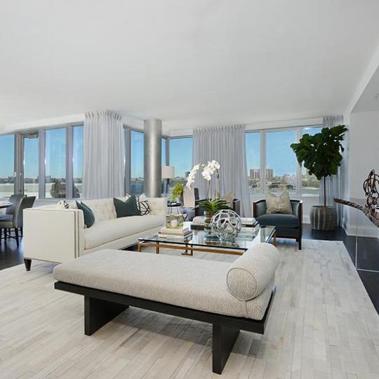 Livingroom at 50 Riverside Boulevard in Manhattan