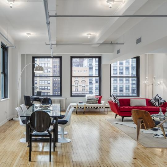 The Pell Building Living Space - NYC condo for sale