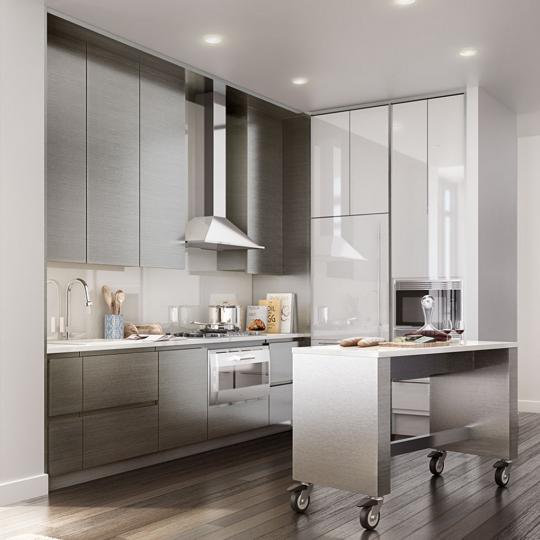 Penthouse Kitchen- 388 Bridge Street- NYC condo for sale