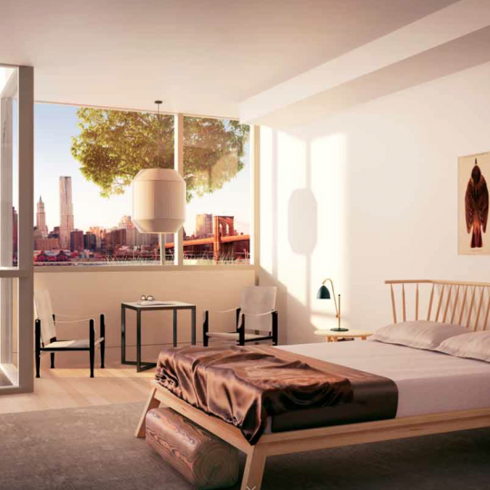 Pierhouse 90 Furman Street Brooklyn Bridge Park NYC Luxury Apartments Bedroom