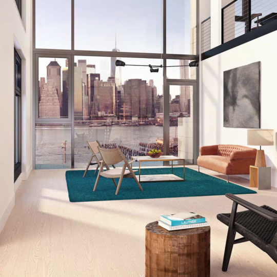 Pierhouse 90 Furman Street Brooklyn Bridge Park NYC Luxury Living Room