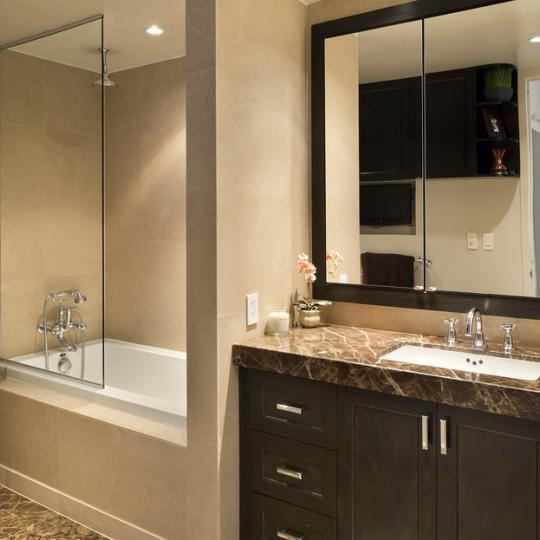 One Rector Park Bathroom - 333 Rector Place Condos for Sale