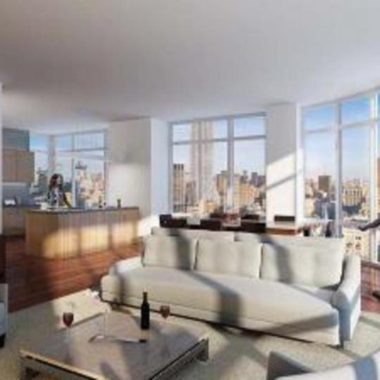 101 West 28th Street Living Room - NYC Condos for Sale