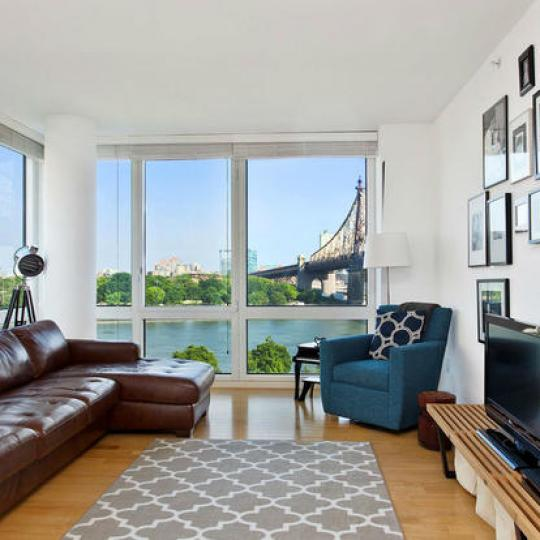 415 Main Street living room - NYC Condos for Sale