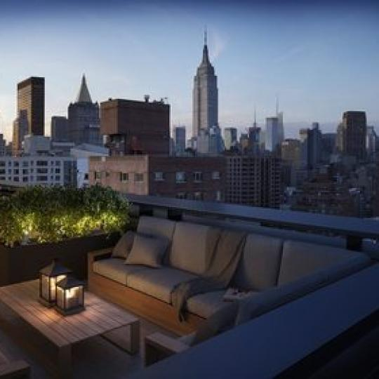 Stunning view from the rooftop deck at 234 East 23rd Street