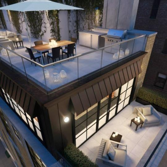 Rooftop deck at 61 Fifth Avenue- luxury condos for sale in NYC