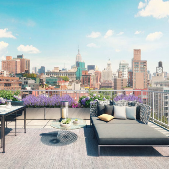 Penthouse Rooftop Deck - 250 Bowery Street - Soho