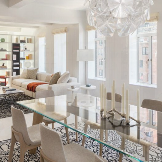 Living and dining area - 737 Park Avenue - Upper East Side