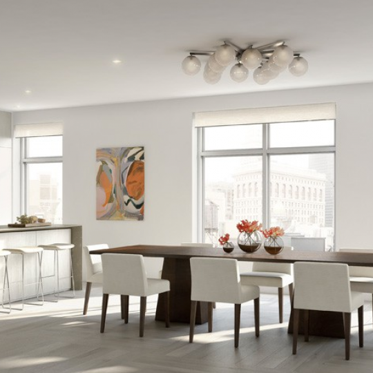 Living and dining area - 21 West 20th Street - Flatiron District