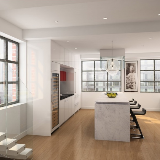 Livingroom Penthouse - 449 Washington Street - Tribeca