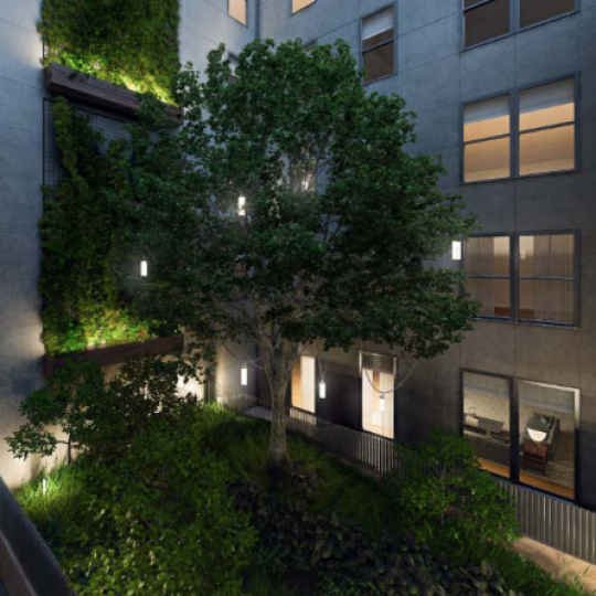 71 Reade Street Reade Chambers Building NYC Apartments for Sale Garden