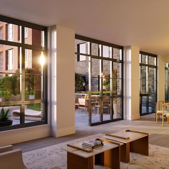 Lounge at 438 East 12th Street in NYC - Apartments for sale