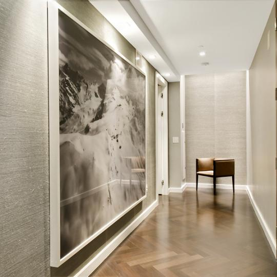 400 West 12th Kitchen Area of New Condos for Sale in Superior Ink NYC Entryway