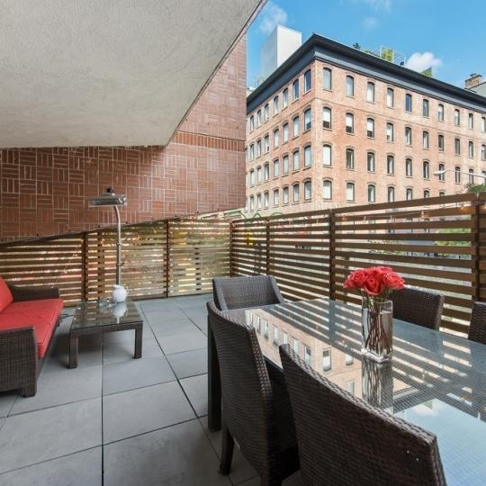Terrace at 123 Baxter Street in NYC