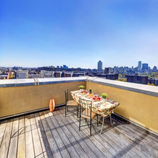 Terrace at 106 West 116th Street in NYC - Condos for sale