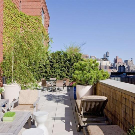 Apartments for sale at 201 West 17th Street - Terrace