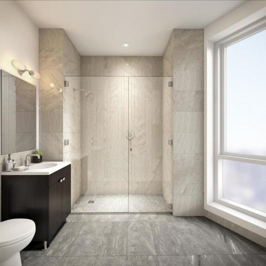 Bathroom at 47-05 5th Street in Hunters Point - Apartments for sale