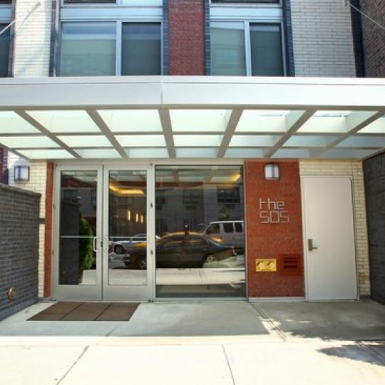 505 West 47th Street NYC Condos - entrance at The 505