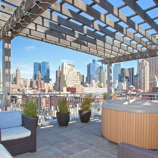 505 West 47th Street NYC Condos - terrace at The 505