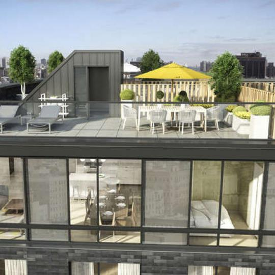Rooftop Terrace at 23 West 116th Streetv in Manhattan - Apartments for sale