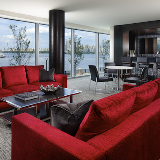 Living room - The Avenue Collection - Condominium for sale in Weehawken