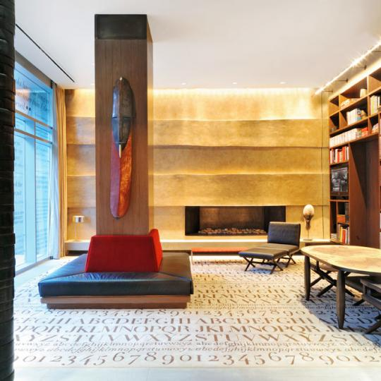The Caledonia 450 West 17th St New Construction Condominium Lobby Fireplace