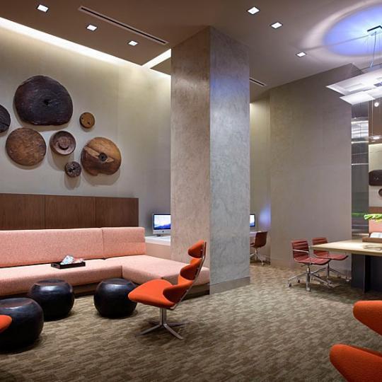 The Caledonia 450 West 17th St New Construction Condominium Lounge Area