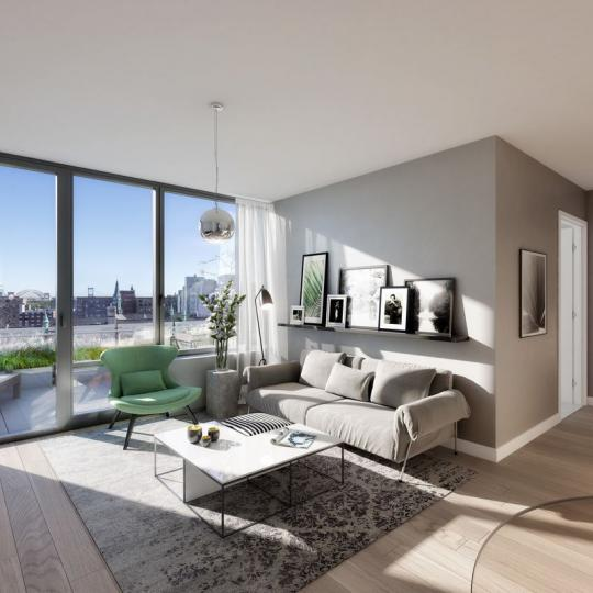 Living Room at The Cereza in Manhattan - Condos for sale