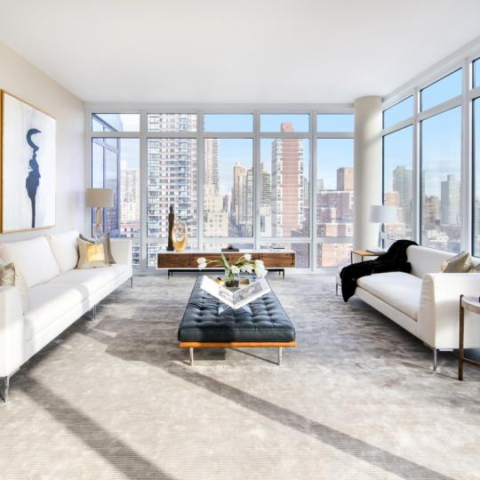 The Charles Living Room 1355 First Ave apartments for Sale in Upper East Side