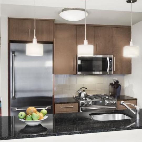 Open Kitchen at The Alfred in NYC - Apartments for sale