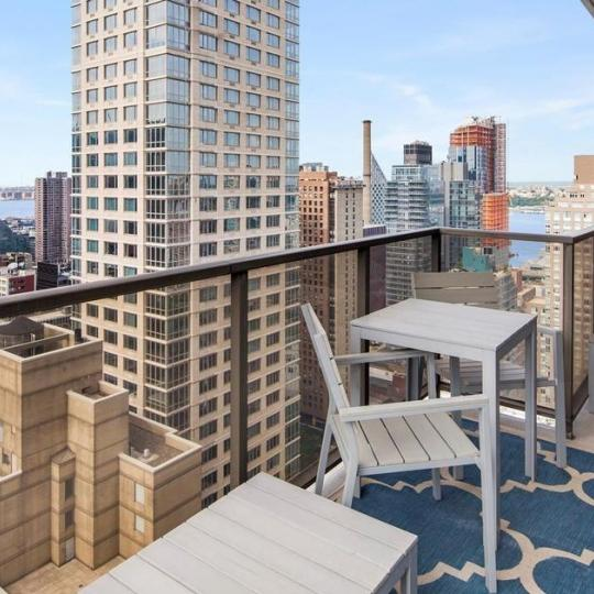 Private Terrace at 161 West 61st Street in Manhattan