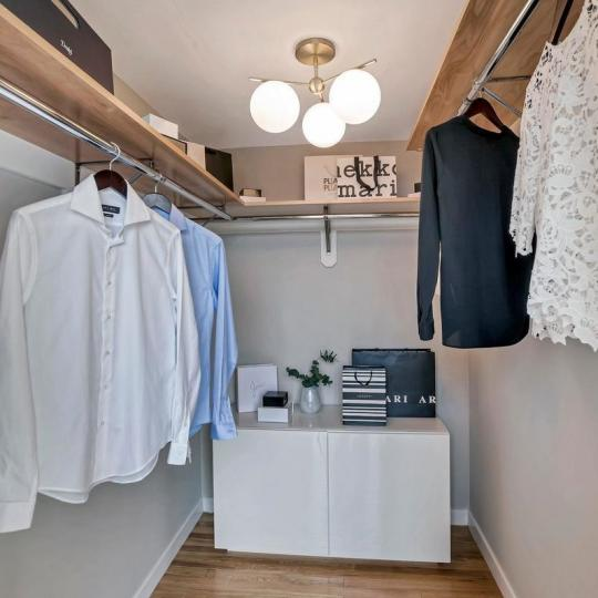 Walk-in Closet at 121 West 19th Street in NYC