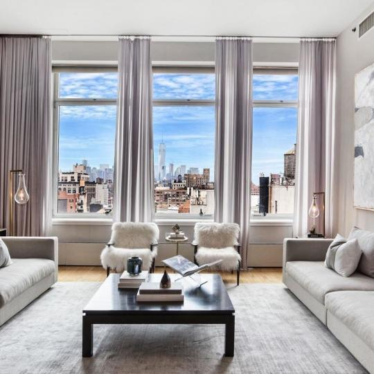 Living Room at 121 West 19th Street in NYC - Condos for sale