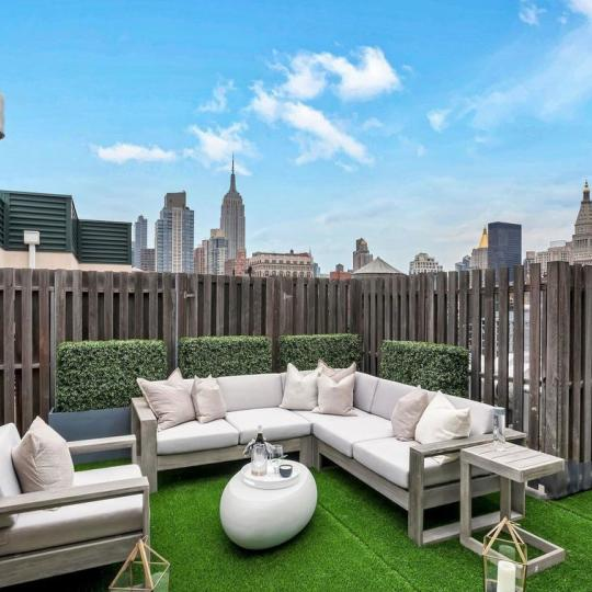 Private Terrace at The Lion's Head Condominium in Manhattan