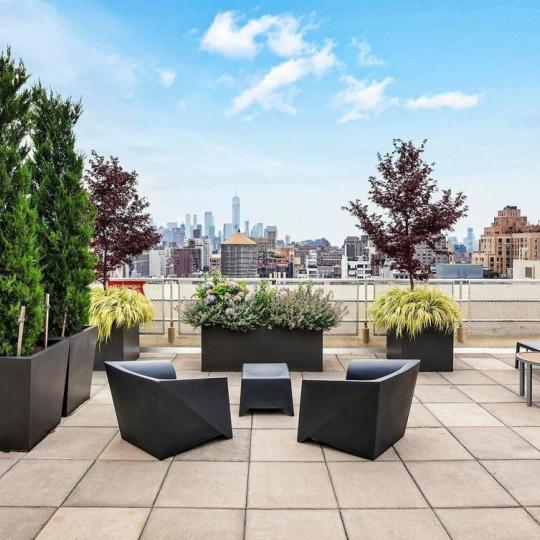 Rooftop Deck at The Lion's Head Condominium in Manhattan