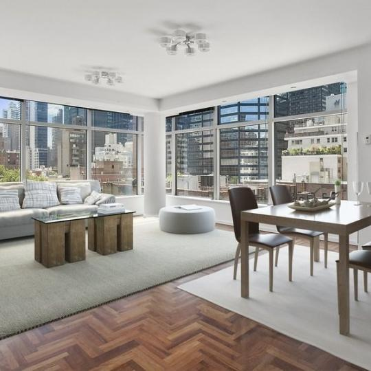 Living Area at 250 East 54th Street in NYC - Condos for sale