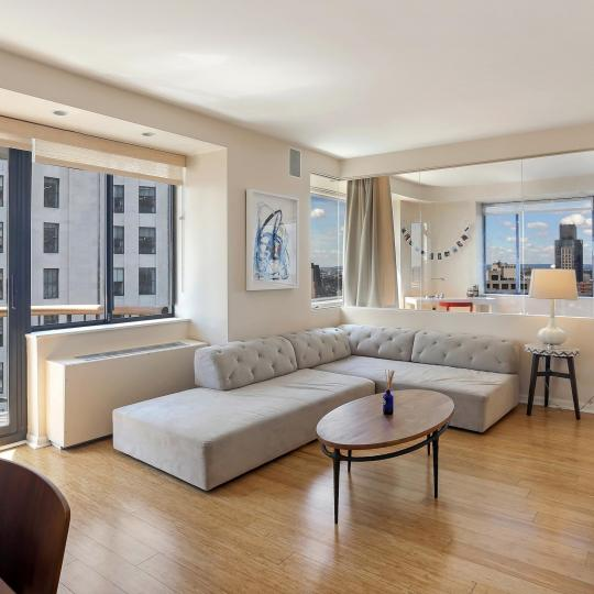 Living Room at The Stanford in Manhattan - Apartments for sale