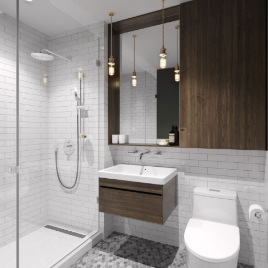 Bathroom at 308 East 38th Street in NYC - Apartments for sale