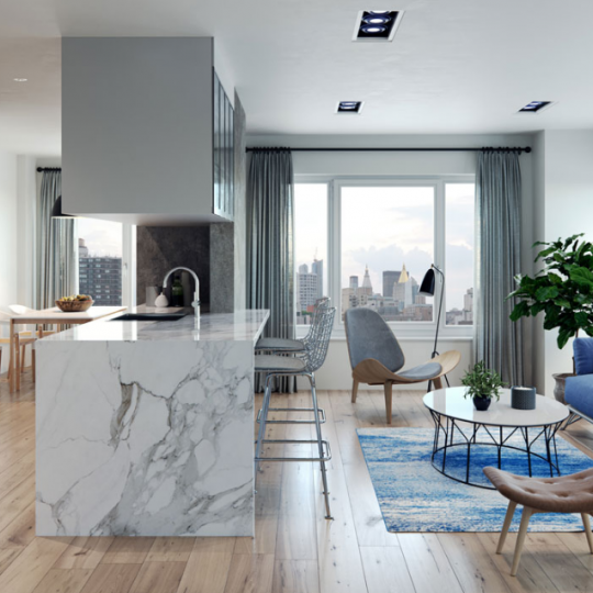 Living Room at 308 East 38th Street in Manhattan - Condos for sale